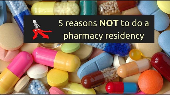 not doing a pharmacy residency