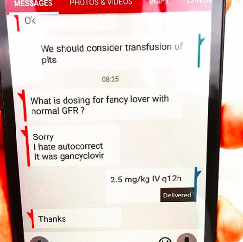 Medical autocorrect fail