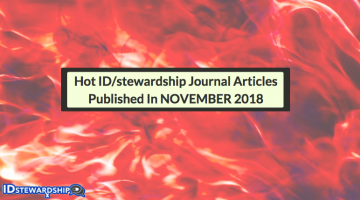 In Case You Missed It: Hot ID/stewardship Journal Articles Trending On Twitter From November 2018