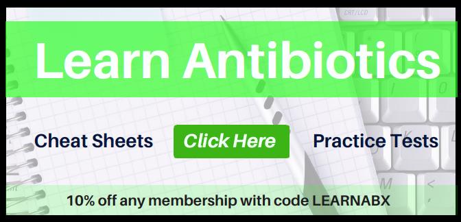 antibiotic coverage cheat sheet